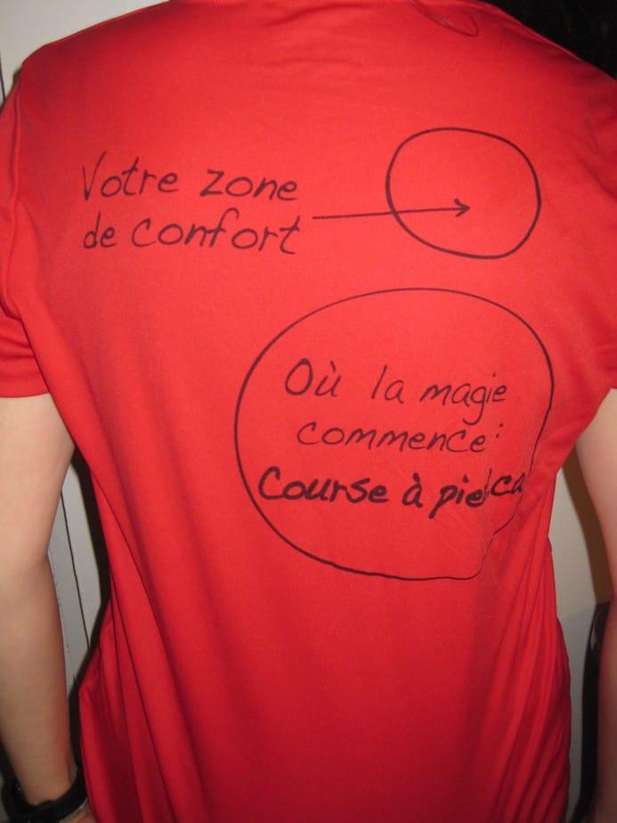 Dos du t-shirt Course à pied.ca
