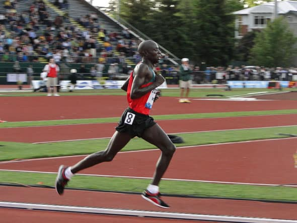 Moses Mosop qui court