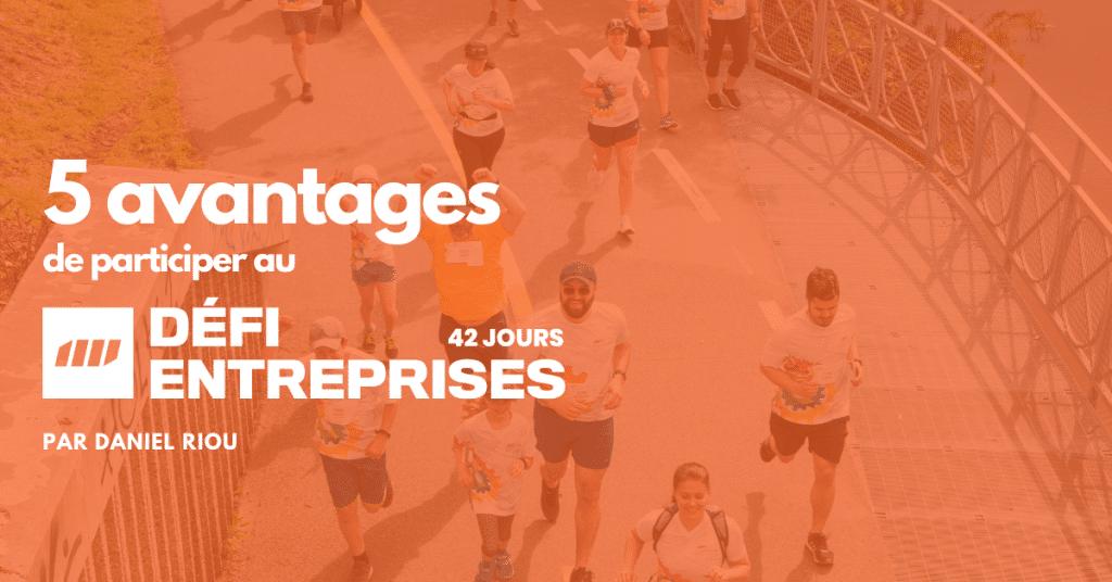 Des coureurs et marcheurs au Défi Entreprises