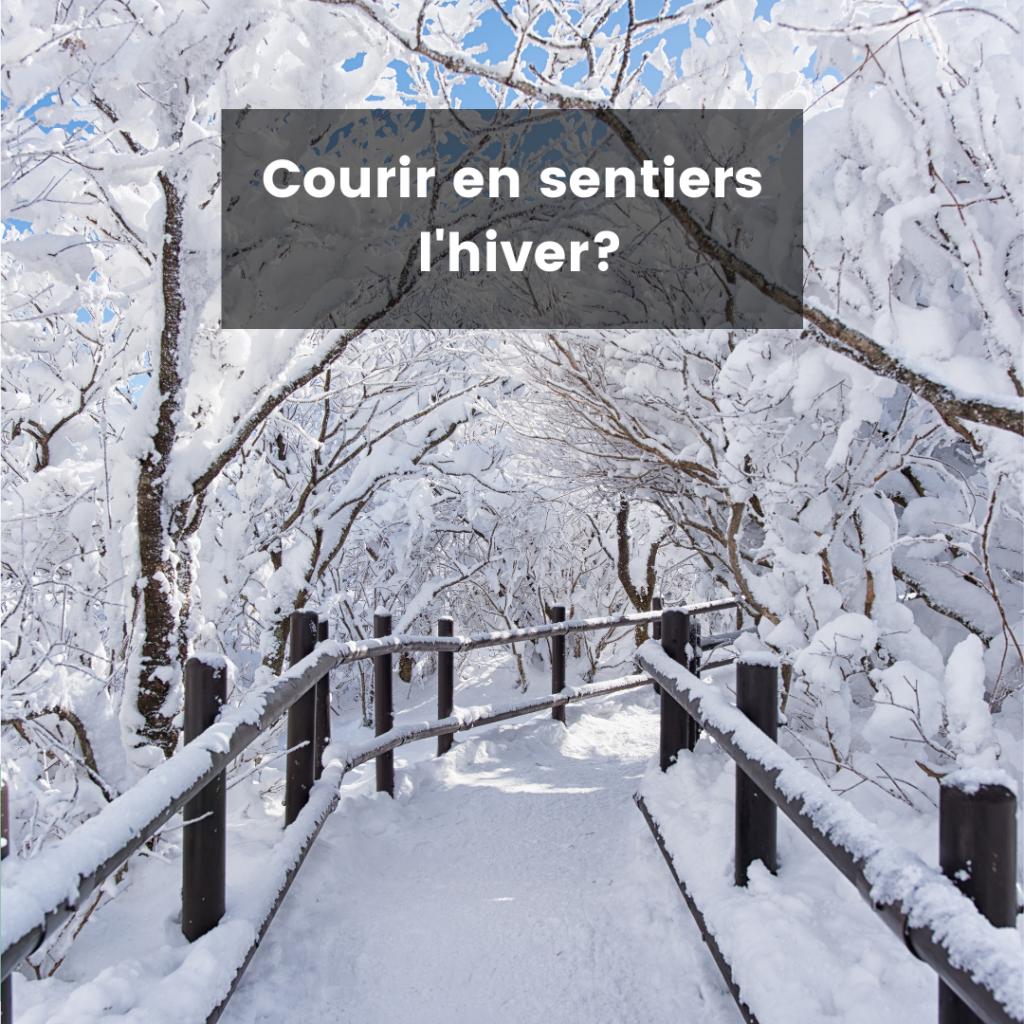 courir en sentier l'hiver image